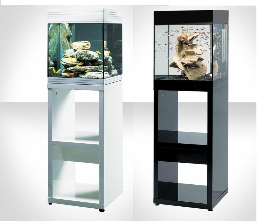 Acquario askoll pure m led con mobile bianco o nero il for Mobile per acquario